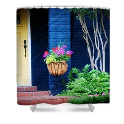 Colorful Porch Shower Curtain by Toni Hopper