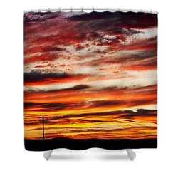 Colorful Rural Country Sunrise Shower Curtain by James BO  Insogna