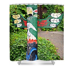 Colorful Totem Shower Curtain by Susan Leggett