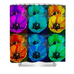 Colorful Tulip Collage Shower Curtain by James BO  Insogna