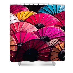 Shower Curtain featuring the photograph Colorful Umbrella by Luciano Mortula