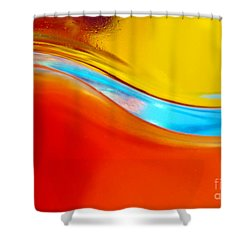 Colorful Wave Shower Curtain by Carlos Caetano