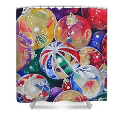Colors Of Christmas ...sold  Shower Curtain