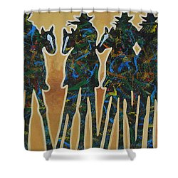 Colors Of Four Shower Curtain by Lance Headlee