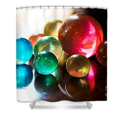 Colors Of Life Shower Curtain by Syed Aqueel