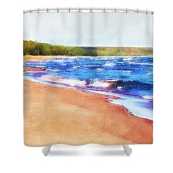 Shower Curtain featuring the photograph Colors Of Water by Phil Perkins