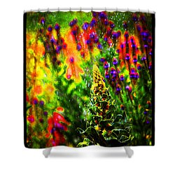 Shower Curtain featuring the photograph Colors Through The Rain Iv by Susanne Still