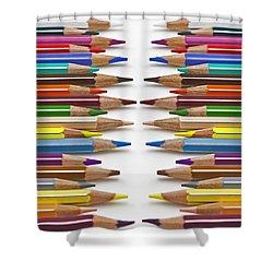 Coloured Pencil Shower Curtain by Joana Kruse