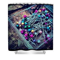 Colourful Pins Shower Curtain