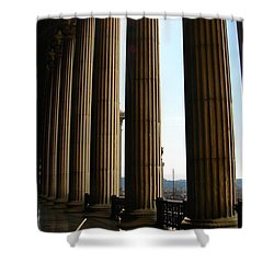 Shower Curtain featuring the photograph Columns by Patrick Witz