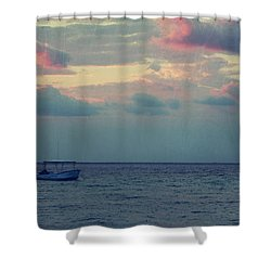 Come With Me My Love Shower Curtain by Laurie Search