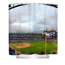 Comerica Park Home Of The Detroit Tigers Shower Curtain