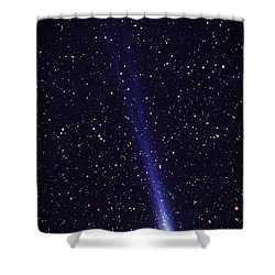 Comet Hyakutake Shower Curtain by Jerry Schad and Photo Researchers