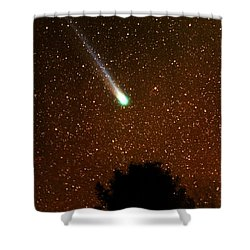Comet Hyakutake Shower Curtain by Rick Frost