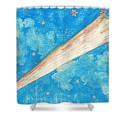 Comet Shower Curtain by Science Source