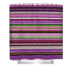 Comfortable Stripes Lll Shower Curtain by Michelle Calkins