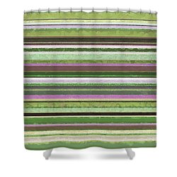 Comfortable Stripes Lv Shower Curtain by Michelle Calkins