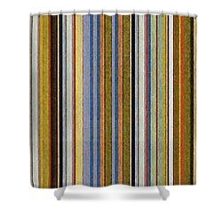 Comfortable Stripes Vlll Shower Curtain by Michelle Calkins
