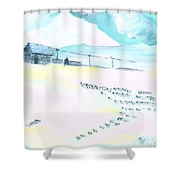 Coming Home Shower Curtain by Anil Nene