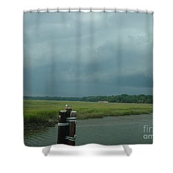 Coming On  Shower Curtain by Mark Robbins