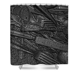 Common Cutlery  Shower Curtain by Empty Wall