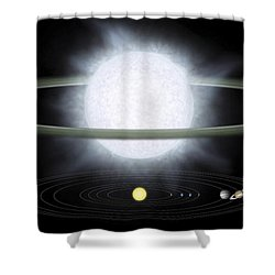 Comparison Of The Size Of A Hypergiant Shower Curtain by Stocktrek Images
