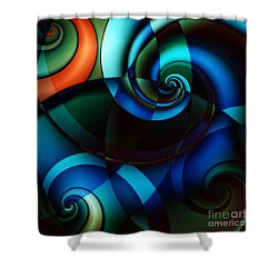 Complex Conversations In Society II Shower Curtain by Clayton Bruster