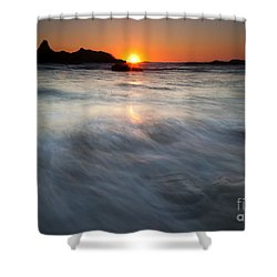Concealed By The Tides Shower Curtain by Mike  Dawson