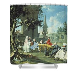 Concert In A Garden Shower Curtain by Filippo Falciatore