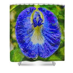 Conch Flower Shower Curtain