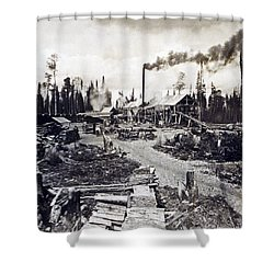 Concord New Hampshire - Logging Camp - C 1925 Shower Curtain by International  Images