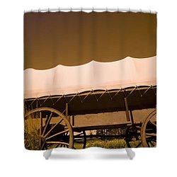 Conestoga Wagon Shower Curtain by Darren Greenwood