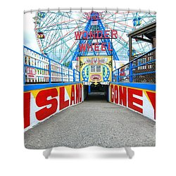 Coney Island Sign Shower Curtain