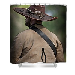 Confederate Cavalry Soldier Shower Curtain by Kim Henderson