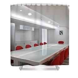 Conference Room Interior Shower Curtain by Setsiri Silapasuwanchai