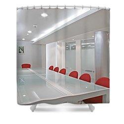 Conference Room Shower Curtain by Setsiri Silapasuwanchai