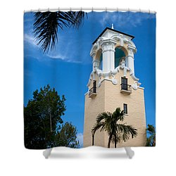 Shower Curtain featuring the photograph Congregational Church Of Coral Gables by Ed Gleichman