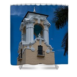 Shower Curtain featuring the photograph Congregational Church Tower by Ed Gleichman
