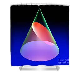 Conic Section Ellipse 6 Shower Curtain