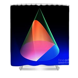 Conic Section Parabola 6 Shower Curtain