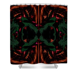 Conjoint - Copper And Green Shower Curtain by Christopher Gaston