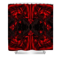 Conjoint - Crimson Shower Curtain by Christopher Gaston