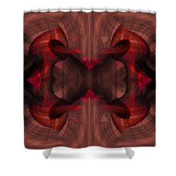 Conjoint - Ruby Shower Curtain by Christopher Gaston