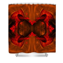 Conjoint - Rust Shower Curtain by Christopher Gaston