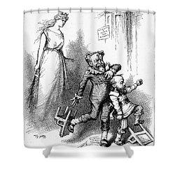 Conkling/platt Resignation Shower Curtain by Granger