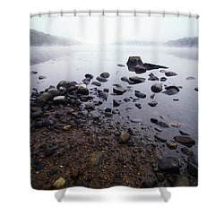Connecticut Rocks Shower Curtain by Karol Livote