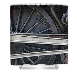 Connecting Rods Of Sir Nigel Gresley Shower Curtain by John Short