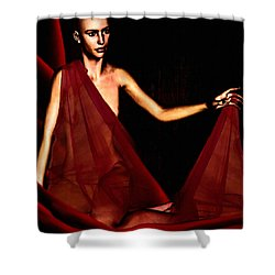Conquerable Quest Shower Curtain by Lourry Legarde