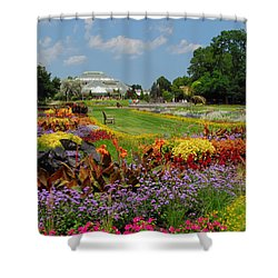 Shower Curtain featuring the photograph Conservatory Gardens by Lynn Bauer