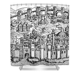 Constantinople, 1493 Shower Curtain by Photo Researchers